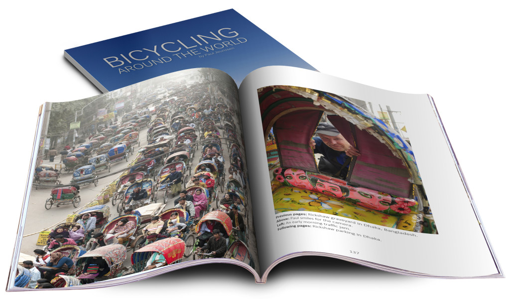 Bicycling around the world photo book