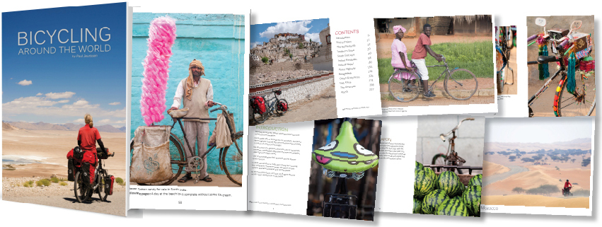 Bicycle touring around the world photo book